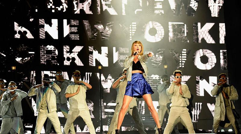 Taylor Swift, durante sua apresentação no Rock in Rio EUA 2015 | © Julioas100 / Wikipedia