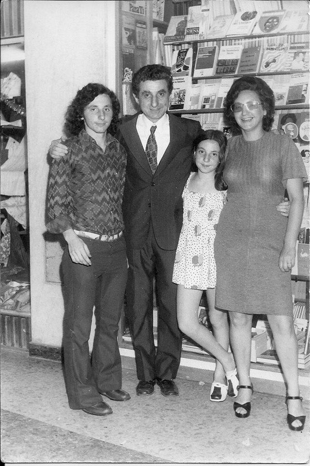 Família Gurbanov, de esquerda para a direita: Bernardo, Alberto (Tito), Raquel e Miriam | © Acervo da família