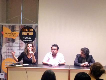 Mesa sobre 'Marketing Editorial' no Dia do Editor da Primavera Literária 2016 no Rio de Janeiro | © Ricardo Costa