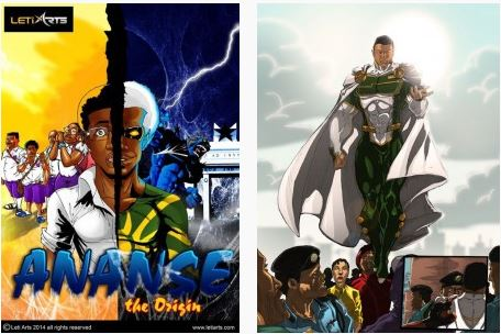 Imagens de True Ananse (Leti Arts) e de Guardian Prime (Comic Republic)