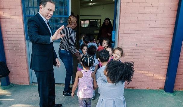 Prefeito João Doria visita uma creche da prefeitura na Zona Sul de São Paulo | © Leon Rodrigues / Secom
