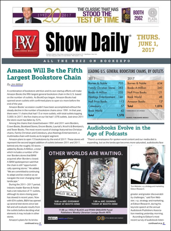 Capa do BookExpo Show Daily | © Reprodução