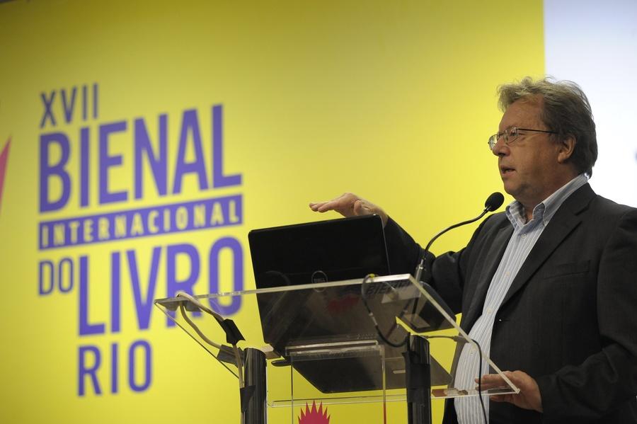 O consultor austríaco Rüdiger Wischenbart participou da 1ª edição do InterLivro | © Divulgação / Bienal do Rio