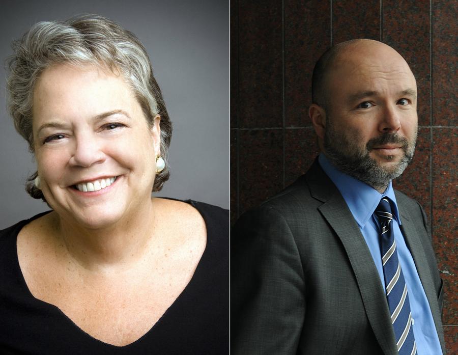 Carolyn Reidy, CEO da editora norte-americana Simon & Schuster, e Guillaume Dervieux, CEO do grupo francês Michel Albin, são os convidados do CEO Talk 2017 | © Divulgação