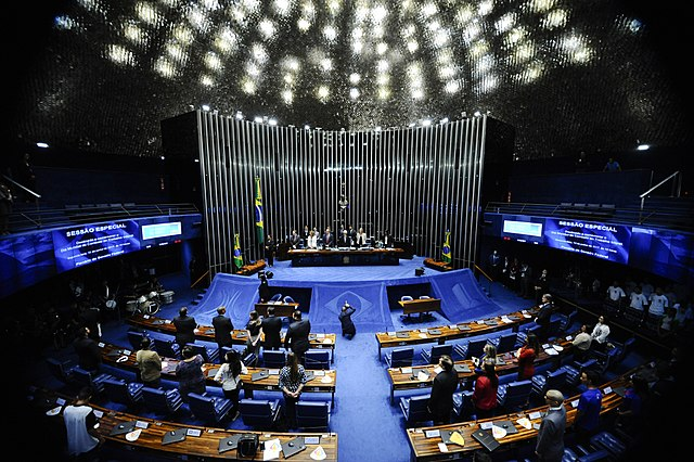 Plenário do Senado Federal, onde os políticos deviam debater o futuro das crianças brasileiras, mas...   © Senado Federal