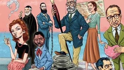 Reprodução da capa do livro 'A história bizarra da Literatura Brasileira' (Planeta)