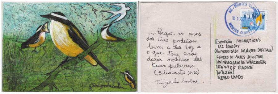 Reprodução do cartão postal da Terezinha Escobar