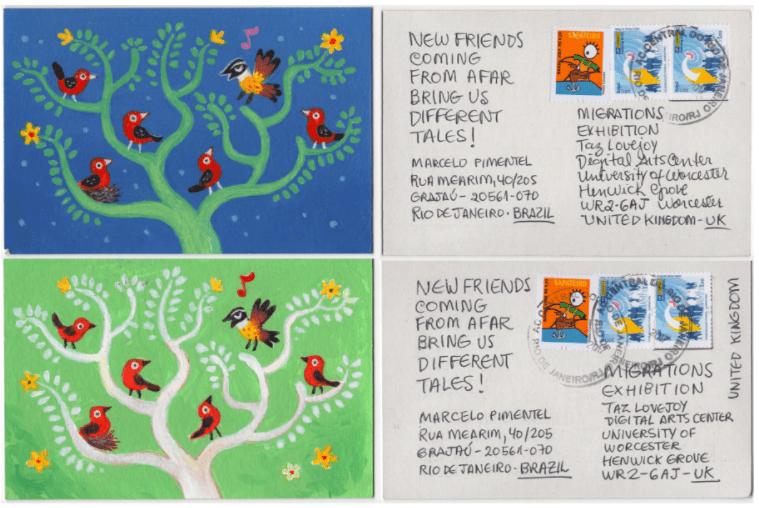 Reprodução do postal de Marcelo Pimentel