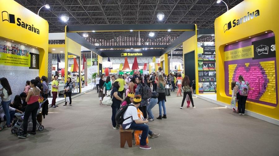 Estande da Saraiva na Bienal do Livro de São Paulo, em 2016, tinha mil metros quadrados | © Flickr da Bienal
