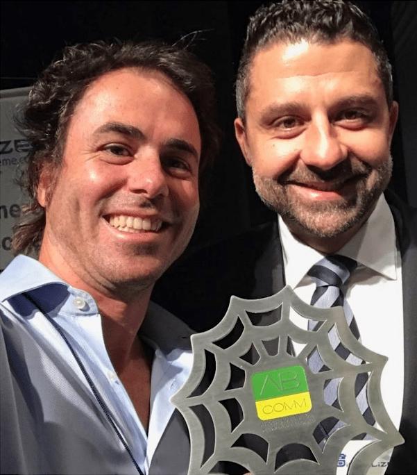 Cristiano Baran, diretor geral da Luft, e Gustavo Barbosa, diretor comercial da Luft Solutions, área em que estão situadas as operações do mercado editorial dentro da empresa | © Divulgação