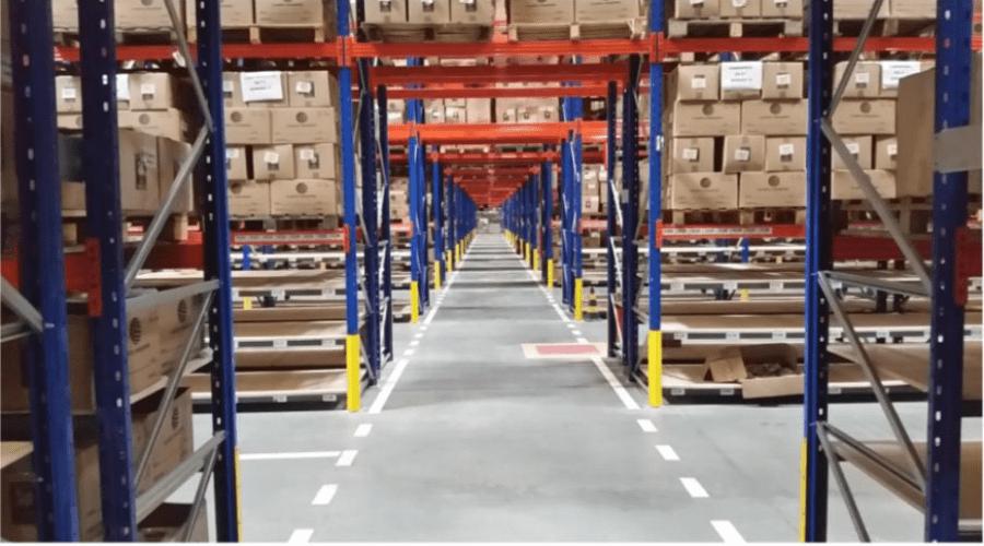 Estrutura do Centro de Distribuição da Luft em Cajamar. São 41 mil m², área suficiente para 50 mil posições pallets | © Divulgação