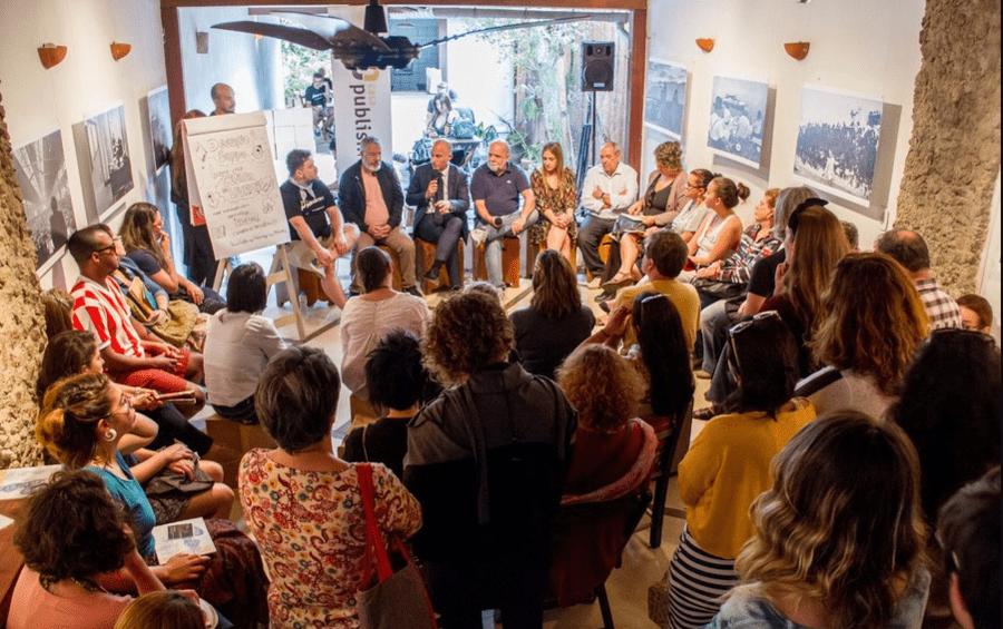 Debate com curadores de eventos literários que ocorreu na última edição da Casa PublishNews, em 2017 | © Julio Vilela