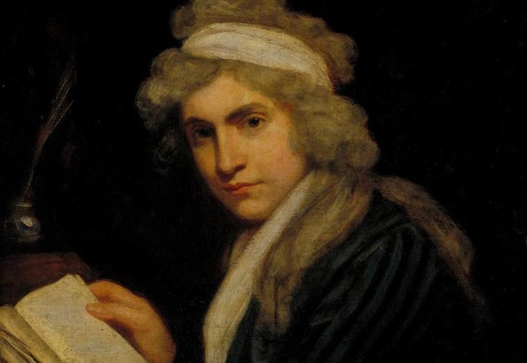 Retrato de Mary Wollstonecraft por John Opie (1790-1) | © Divulgação