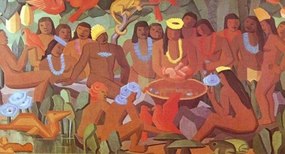 O batizado de Macunaíma, de Tarsila do Amaral | © Reprodução