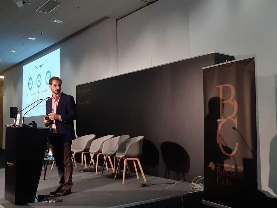 Gustavo Lembert, CEO da TAG, foi um dos destaques do primeiro dia da Feira do Livro de Frankfurt | Leonardo Neto