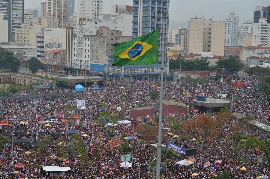 Manifestação 'Mulheres contra Bolsonaro' que aconteceu no último sábado, em São Paulo | © Rovena Rosa