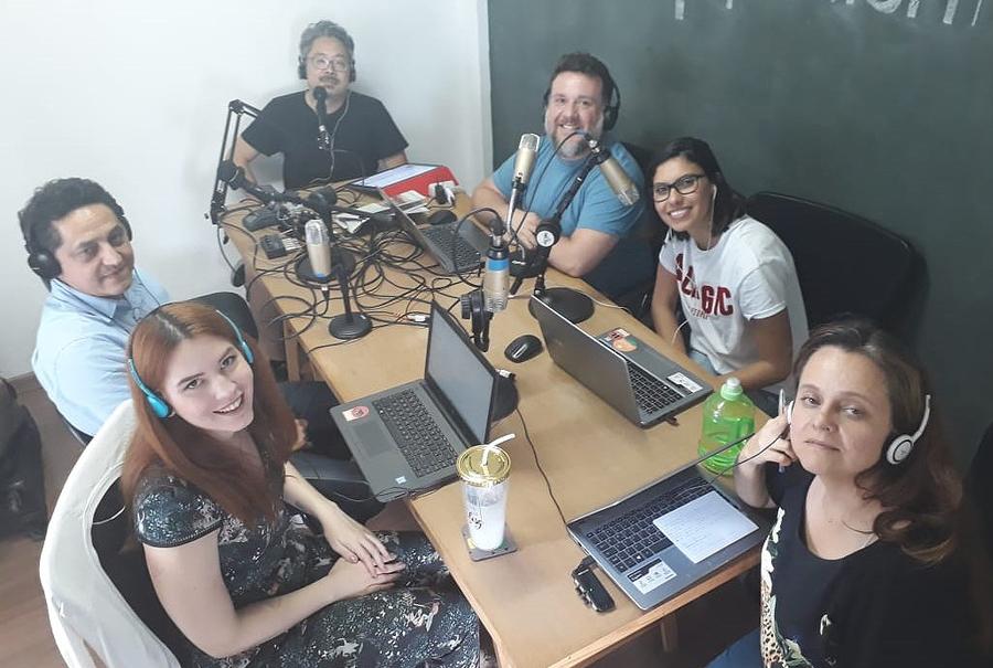Azevedo e a nossa equipe na gravação do Podcast | © Zé Barrichello
