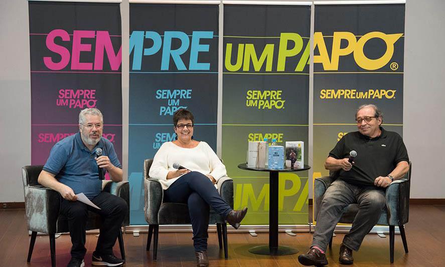 Afonso Borges com Heloisa Seixas e Ruy Castro | © Daniel Bianchini