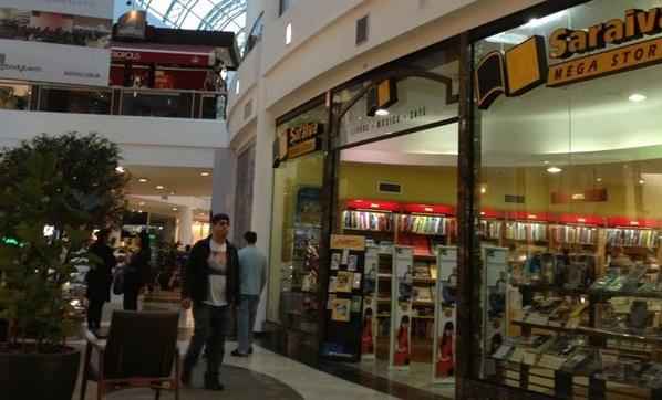 Loja da Saraiva no Shopping Crystal vive seus últimos dias | © Reprodução