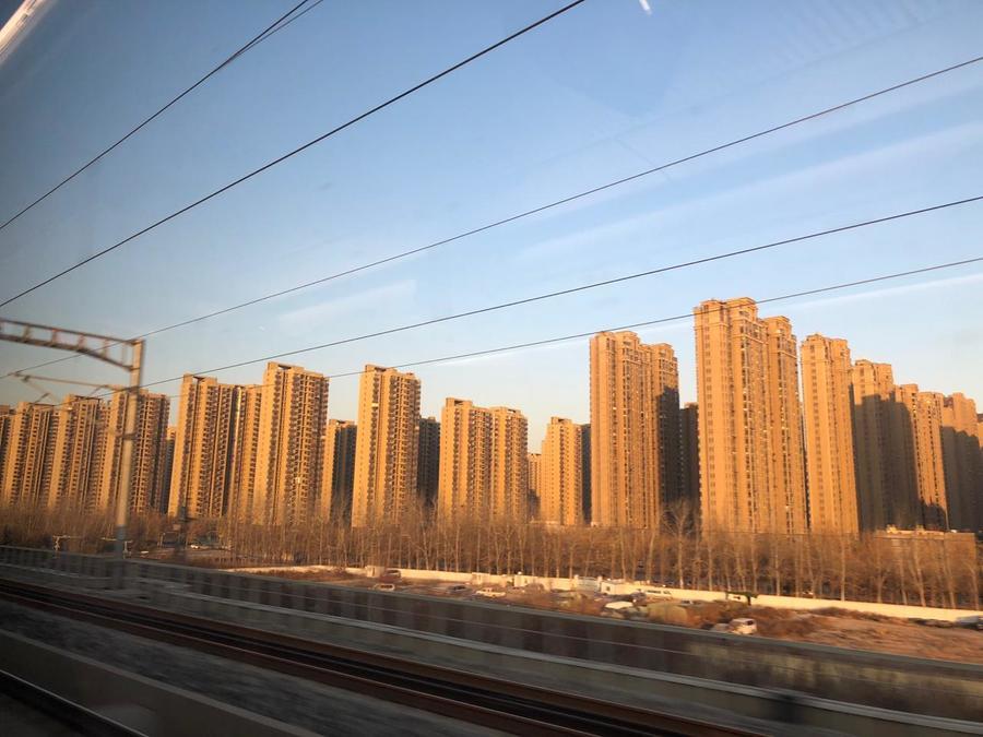 A cidade de Jinan, capital da província de Shandong, que tem 95 milhões de habitantes.