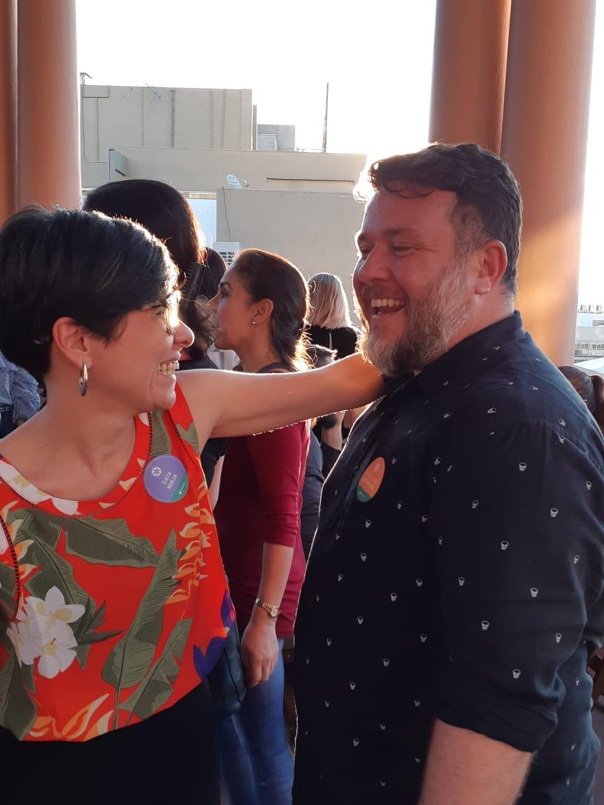 Mariana Bueno e Leonardo Neto na Feira do Livro de Porto Alegre