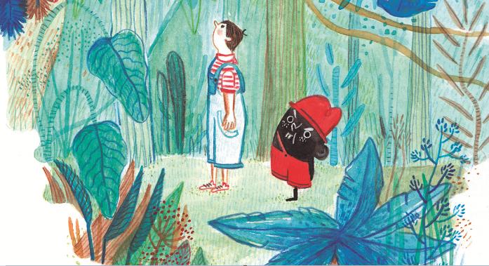 O Saci foi ilustrado pela portuguesa Catia Vidinhas