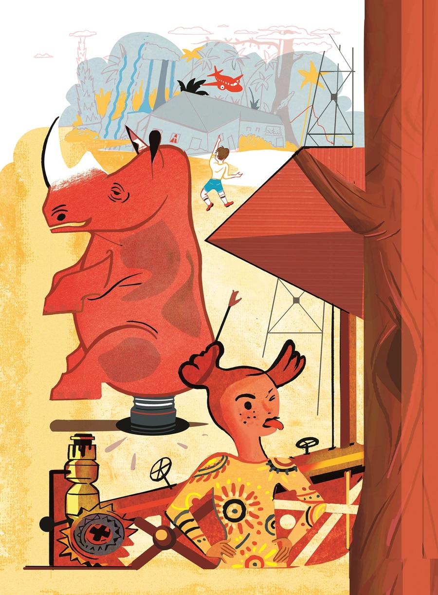 Ilustração do português para 'O poço do Visconde'