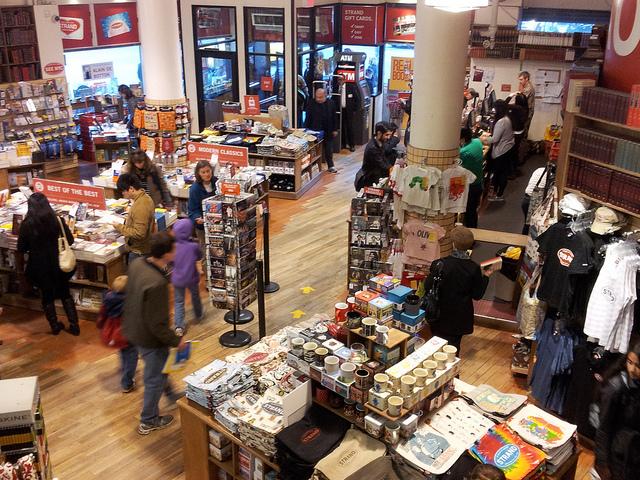 Vendas de livros impressos crescem nos EUA. Foto da Strand Books em Nova York   © Gustavo Guertler