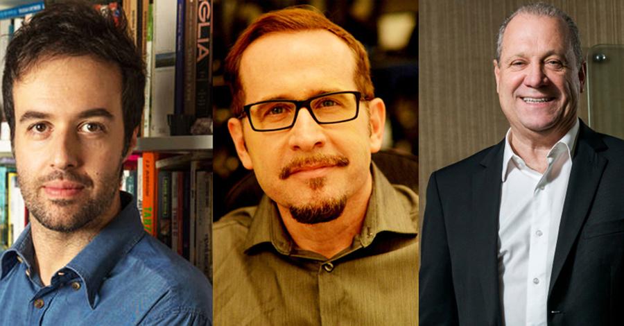 Emilio Fraia, Pedro Almeida e Luis Antonio Torelli | © Divulgação