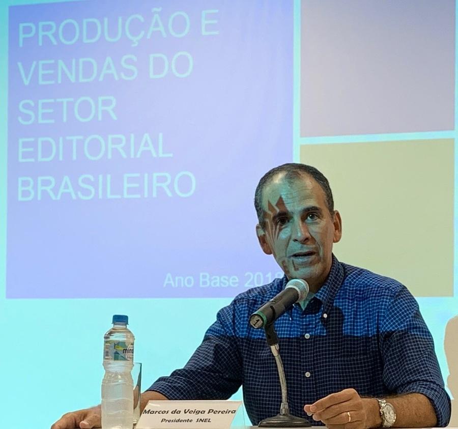 """Marcos Pereira, presidente do SNEL: """"Uma armadilha perigosa é olhar os números e dizer 'Que difícil!', quando o grande aprendizado aqui é olhar e ver o que podemos fazer para reverter"""""""