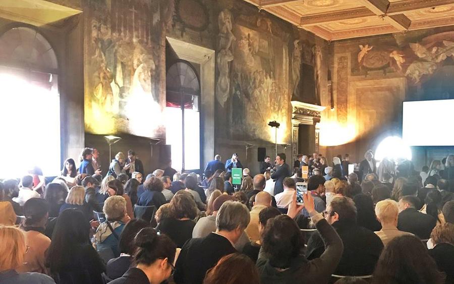 Cerimônia do Bologna Prize Best Children´s Publihshers of the year | © Redes Sociais