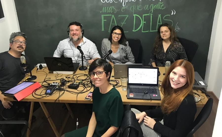 Mariana Bueno e a equipe do PublishNews falam sobre a série histórica da Pesquisa Produção e Vendas do Setor Editorial Brasileiro | © Zé Barrichello