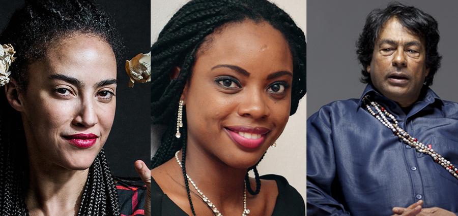 Grada Kilomba, Ayòbámi Adébáyò e Aiton Krenak foram destaques da Flip 2019 e apareceram na Lista dos Mais Vendidos do PublishNews | © Divulgação / Flip