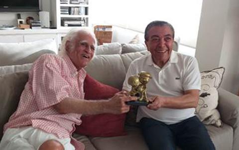 Mauricio de Sousa e Ziraldo foram os homenageados da 30ª edição do prêmio   © Divulgação