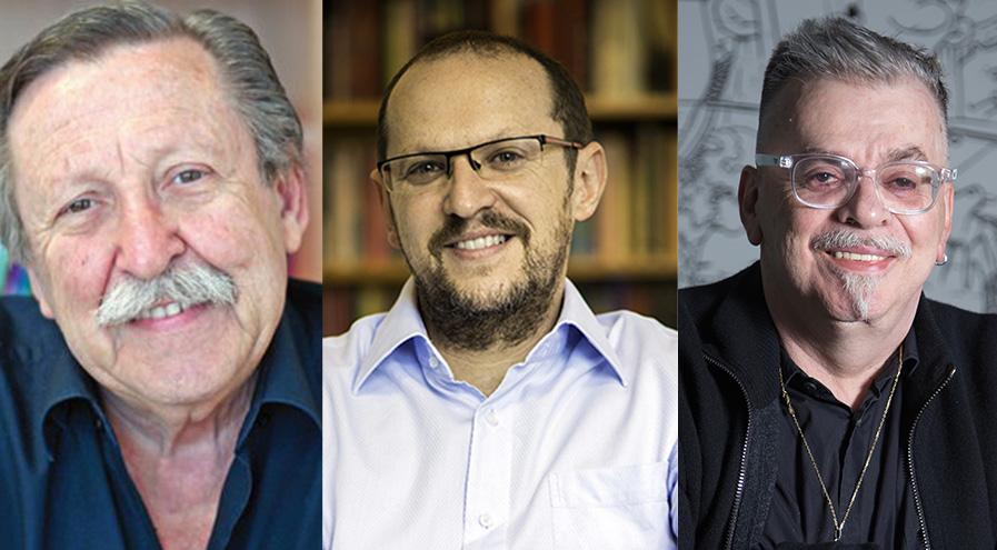Pedro Bandeira, Ilan Brenman e Walcyr Carrasco | © Divulgação