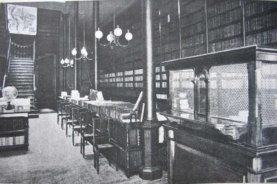 Interior da Livraria Garnier da Rua do Ouvidor, no centro do Rio de Janeiro | Reprodução