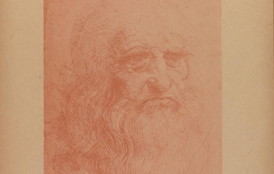 Autorretrato de Leonardo da Vinci, da Biblioteca de Turim (1888)