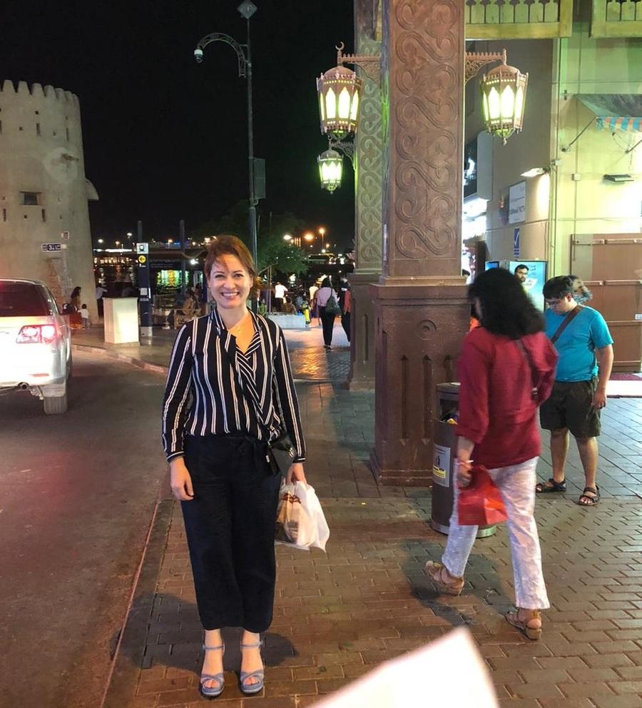Juliana Farias, pela segunda vez, está nos Emirados Árabes em busca de oportunidades de negócios | Acervo Pessoal
