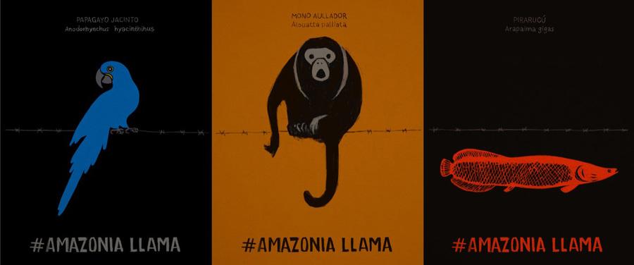 Obra do uruguaio Alfredo Soderguit que fará parte da exposição Amazônia Chama na Primavera Literária | Reprodução