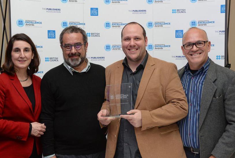Equipe da Ed5 na entrega do International Excellence Awards em março deste ano | © London Book Fair