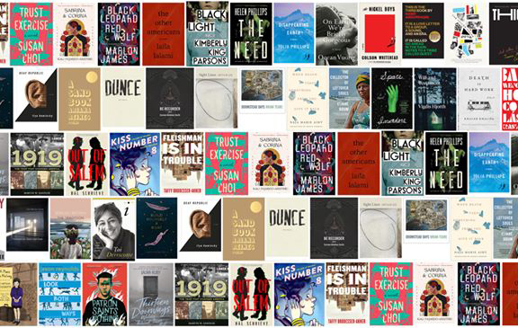 Capas dos livros que concorreram ao National Book Awards em 2019  Reprodução