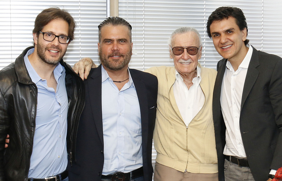 Terry Dougas, Frederico Lapenda, Stan Lee e Gabriel Chalita | © Divulgação