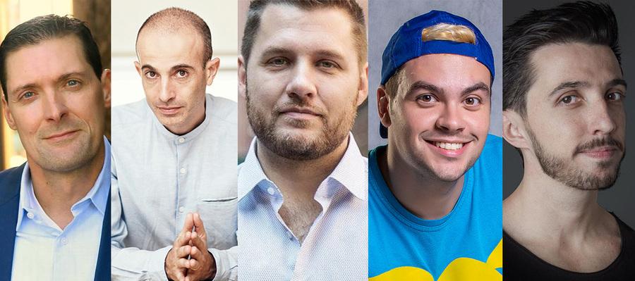 Charlie Donlea, Yuval Noah Harari, Mark Manson, Luccas Neto e Caio Carneiro