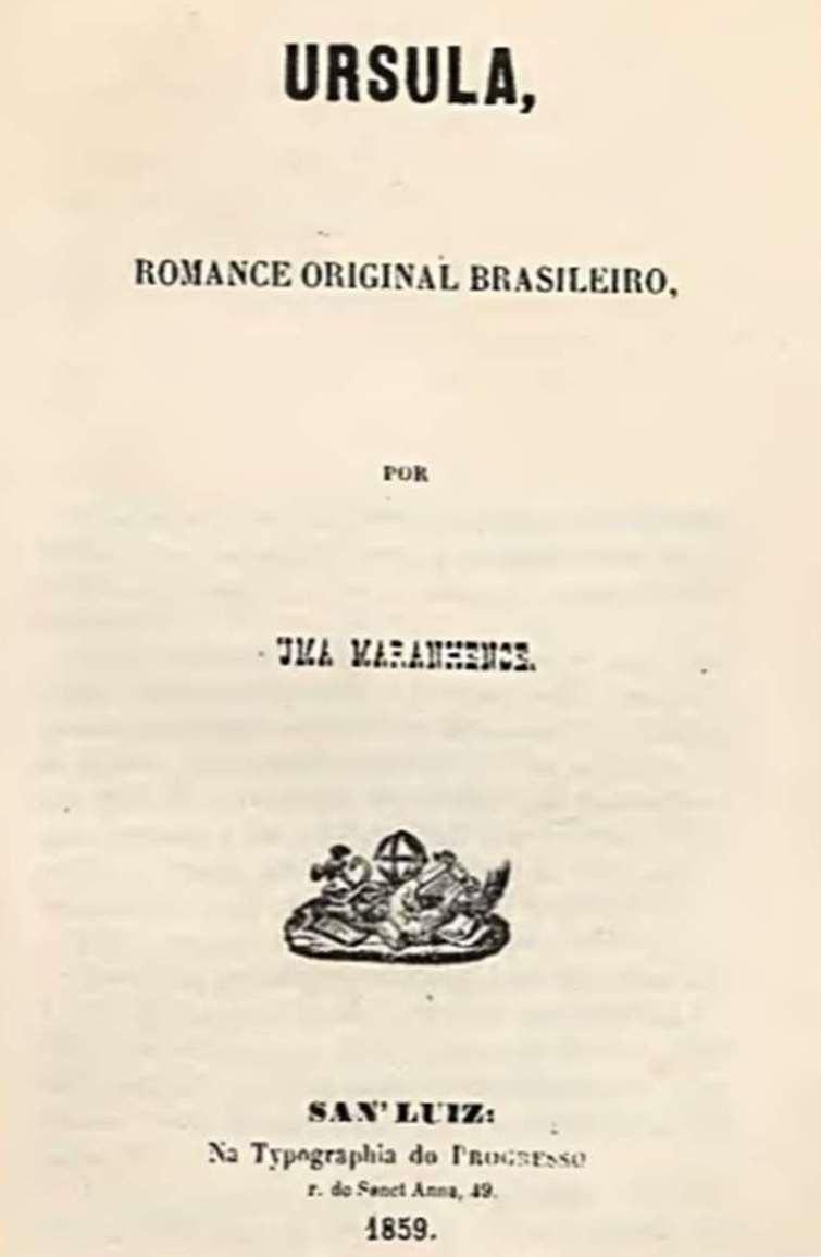 Capa da primeira edição do livro Úrsula publicado em 1859 por Maria Firmina dos Reis