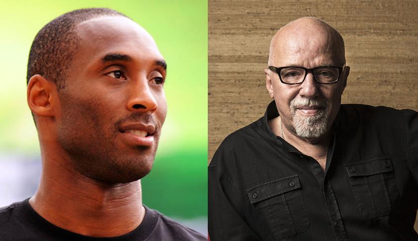 Kobe Bryant e Paulo Coelho | © Michael Wa / © Niels Akermann
