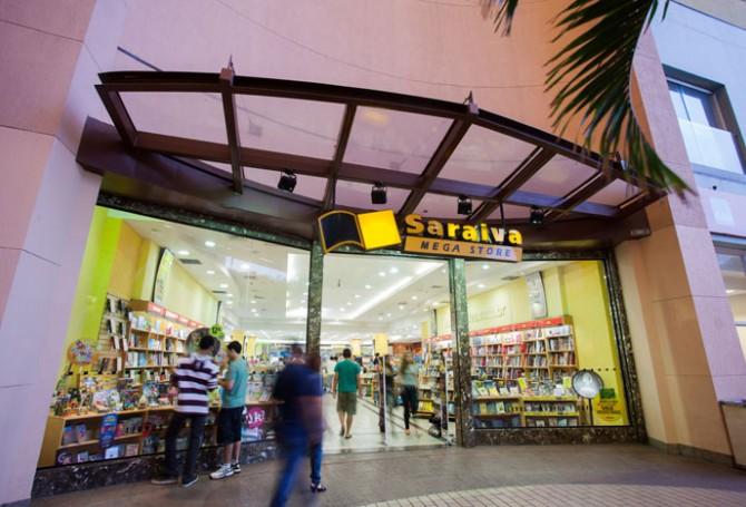 Fachada da loja da Saraiva no New York City Center   © reprodução do site do centro comercial