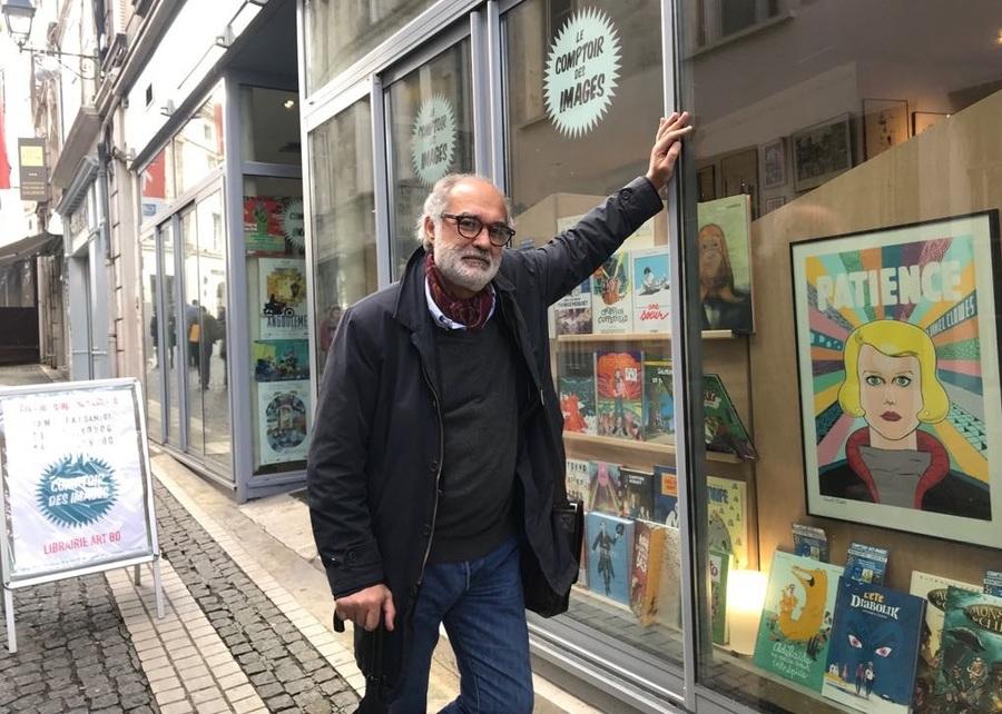 Arnaud Vin, editor da Nemo, no Festival International de la Bande Dessinée d'Angoulême de 2018 | © Página da Autêntica no Facebook
