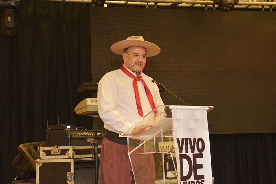 A caráter: o manauara Marcio Tupinambá se vestiu de gaúcho para a festa de encerramento do Salão de Negócios da ABDL | Elisângela Borges