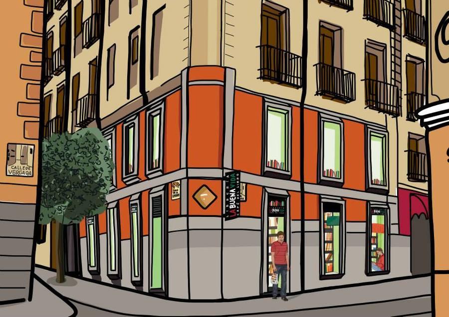 Sketch da fachada da La Buena Vida