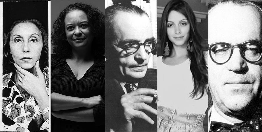 Clarice Lispector, Ana Maria Gonçalves, Graciliano Ramos, Aline Bei e Guimarães Rosa